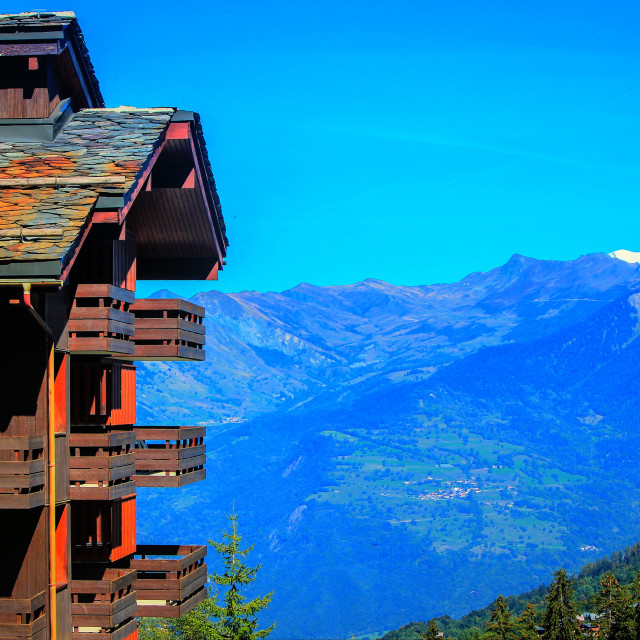 """Ski lodge"" stock image"