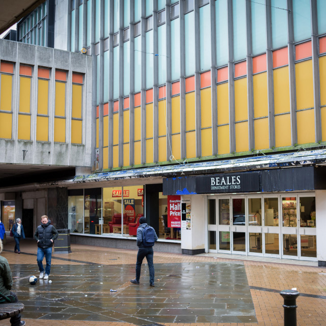 """""""Mansfield Town Centre,UK."""" stock image"""