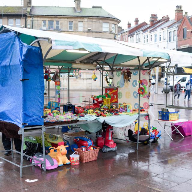 """Market Day Mansfield,UK."" stock image"