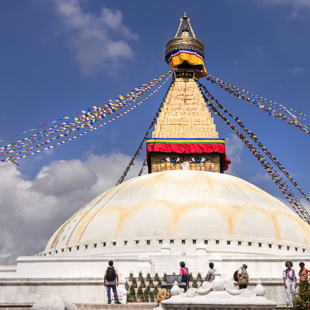 """The Great Stupa of Boudhanath"" stock image"