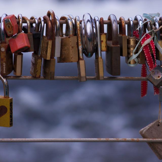 """Heart Locks"" stock image"