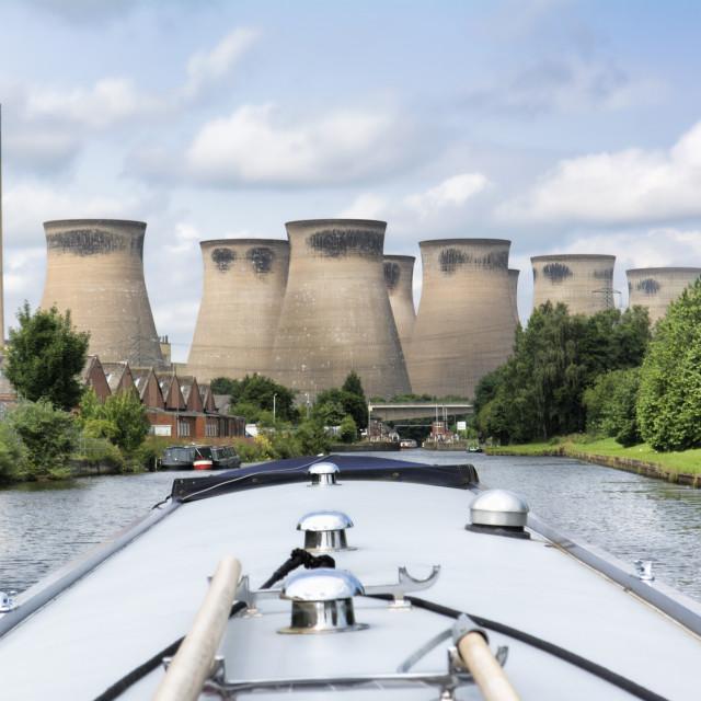 """""""Canal Tour de Yorkshire"""" stock image"""