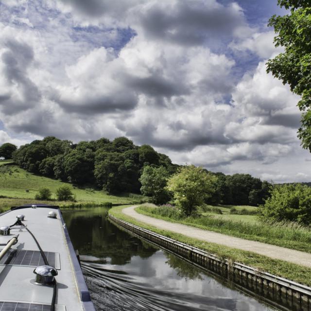 """Big Yorkshire Skies"" stock image"