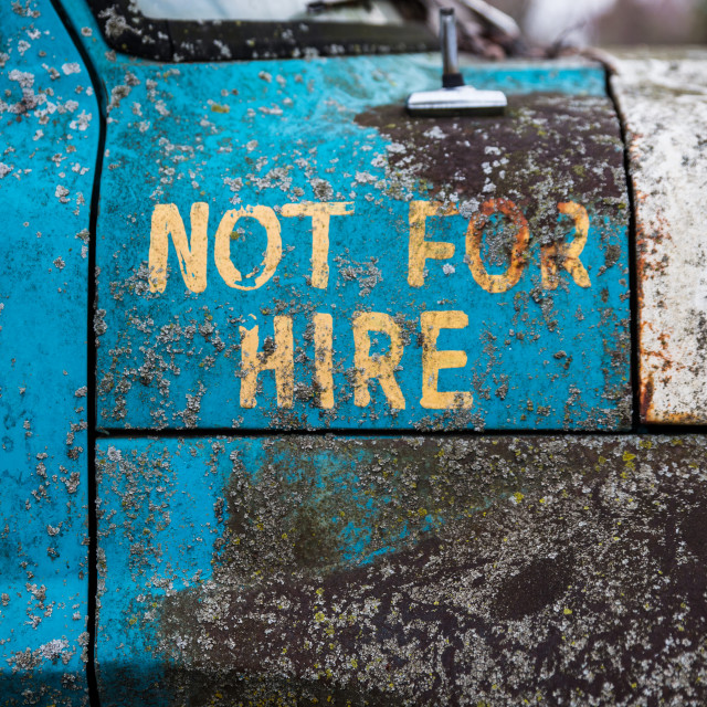 """""""Not for hire"""" stock image"""