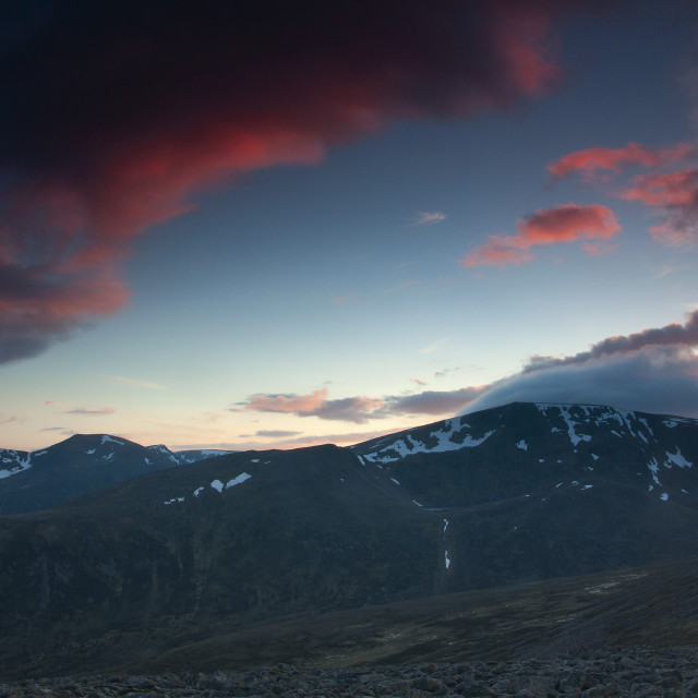 """Ben MacDui from Derry Cairngorm"" stock image"