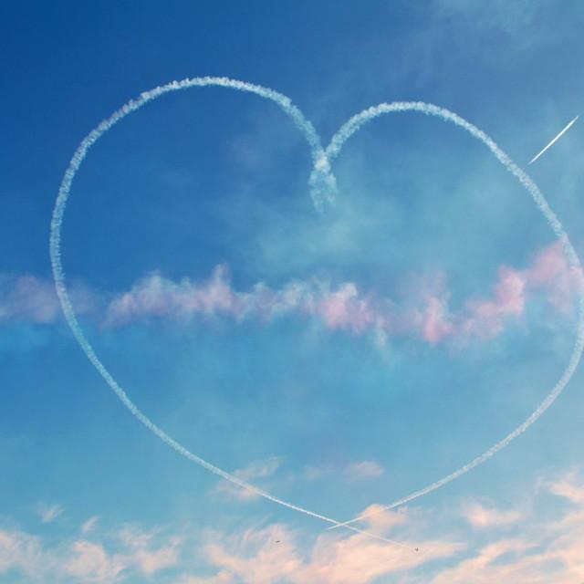 """""""Sky heart"""" stock image"""