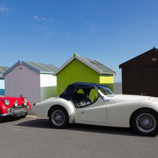 """Classic Triumph sportscars"" stock image"