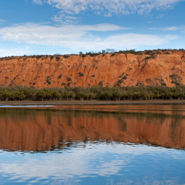 """Rock reflection, Spencer Gulf"" stock image"