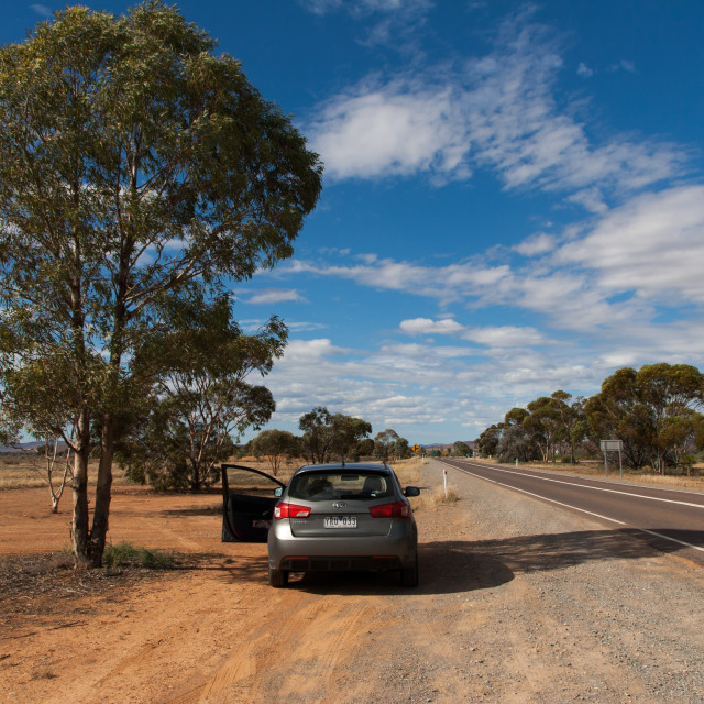 """Outback road, Hawker, SA"" stock image"