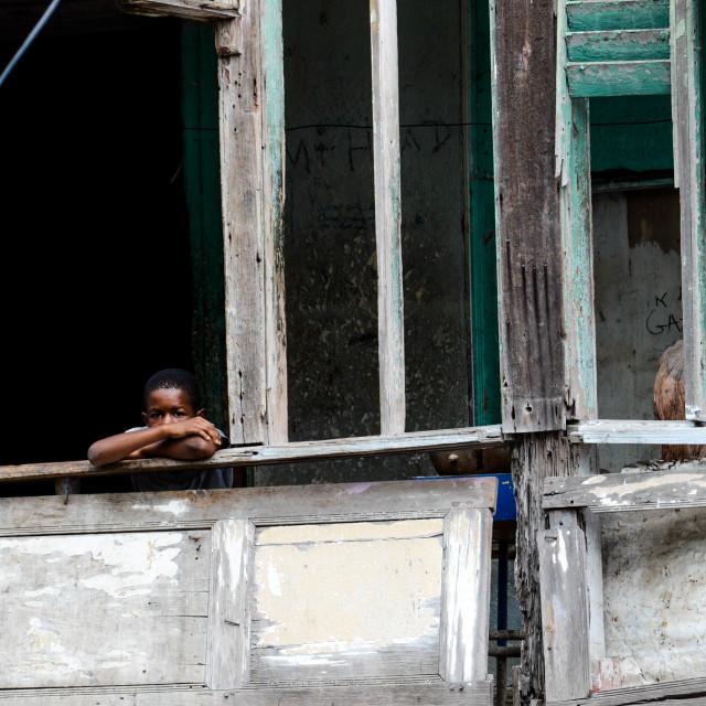 """Poverty - Spanish Town, St. Catherine, Jamaica"" stock image"