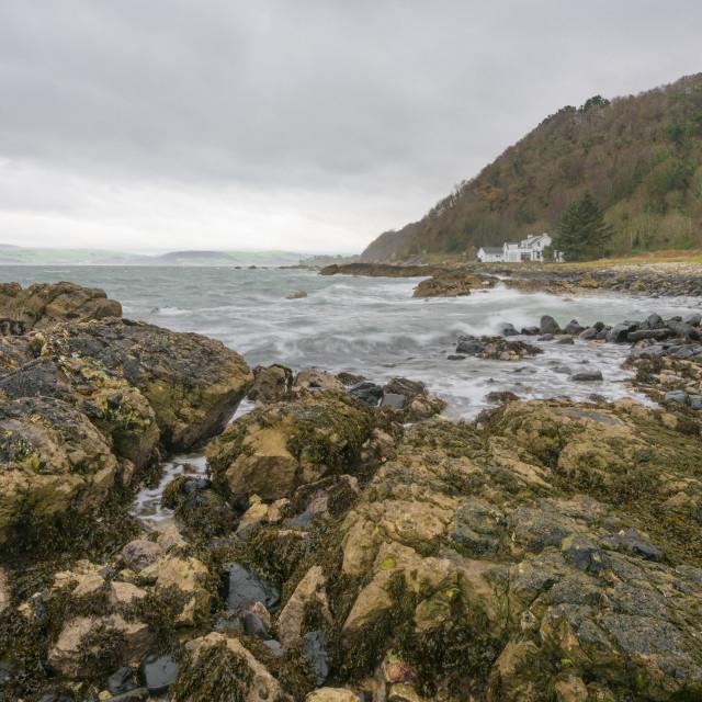"""""""Glencloy shoreline"""" stock image"""