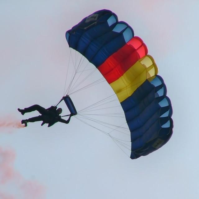 """Parachutist"" stock image"