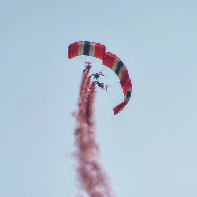"""Parachutists"" stock image"