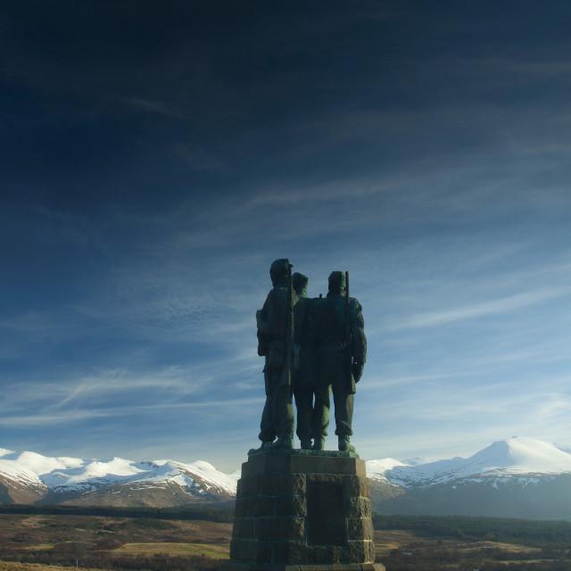 """Commando Memorial"" stock image"