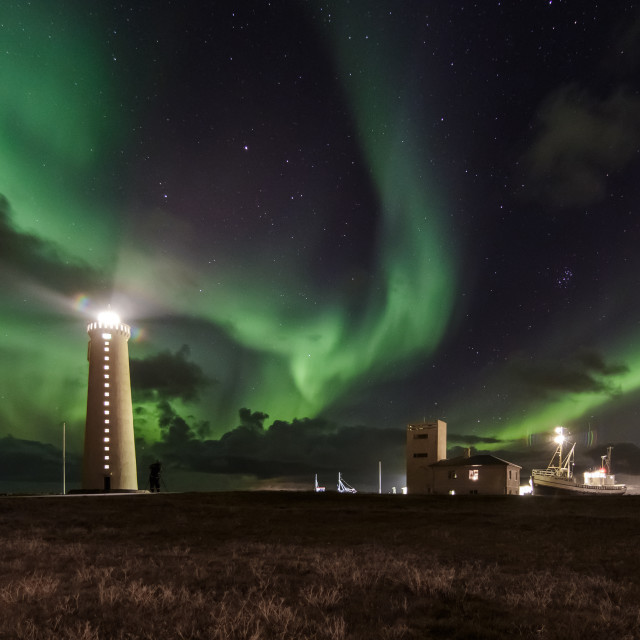 """Garðskagi Lighthouse"" stock image"