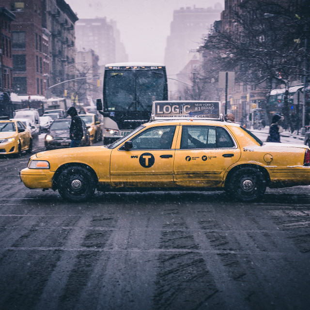"""NYC Taxi"" stock image"