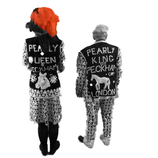"""""""Pearly King and Queen"""" stock image"""