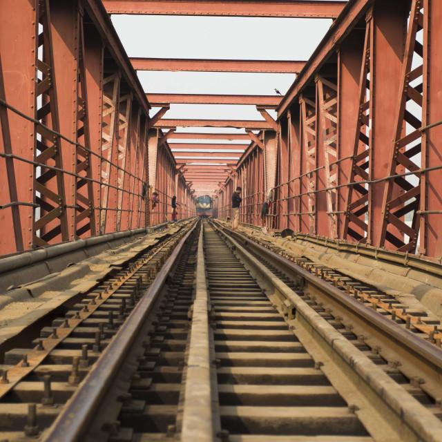 """Rail Bridge in Bangladesh"" stock image"