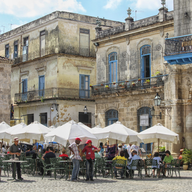 """Outdoor restaurant in Cuba"" stock image"