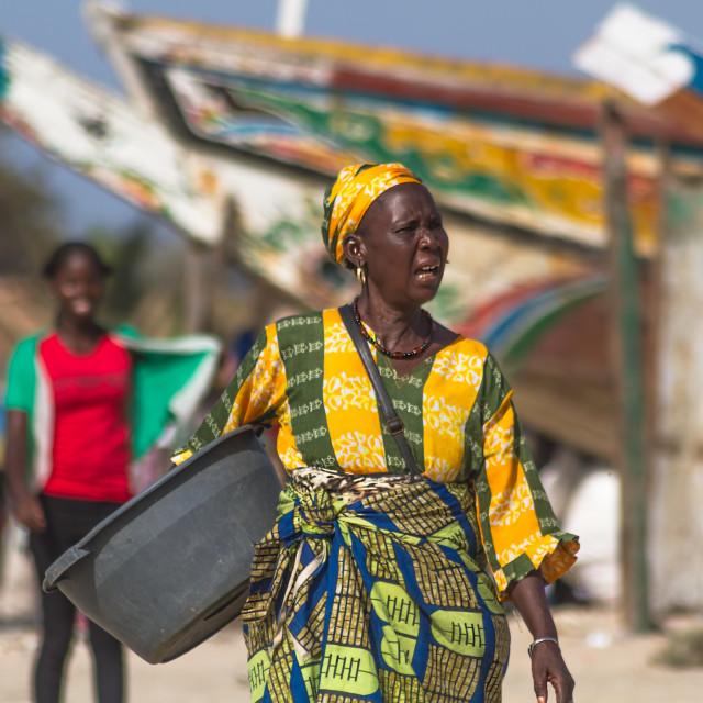 """Gambian Woman"" stock image"