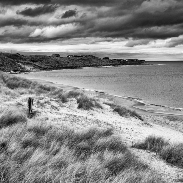 """Embleton Beach - monochrome"" stock image"