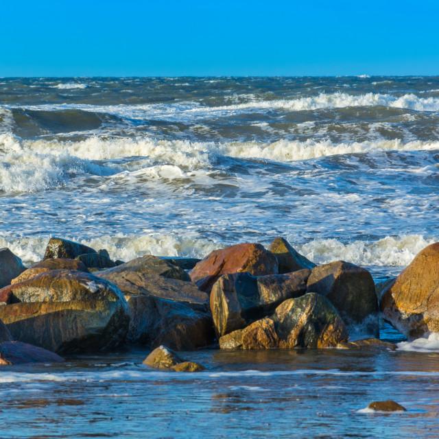 """Rocky ocean"" stock image"
