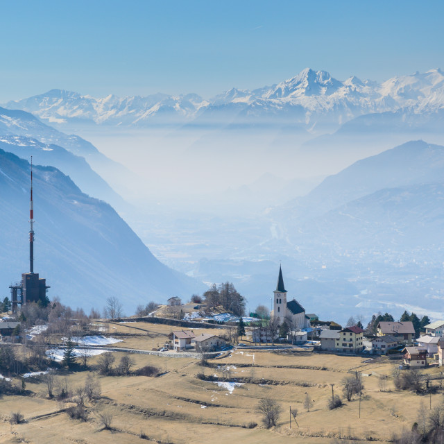 """Guttet-Feschel, Wallis, Switzerland"" stock image"