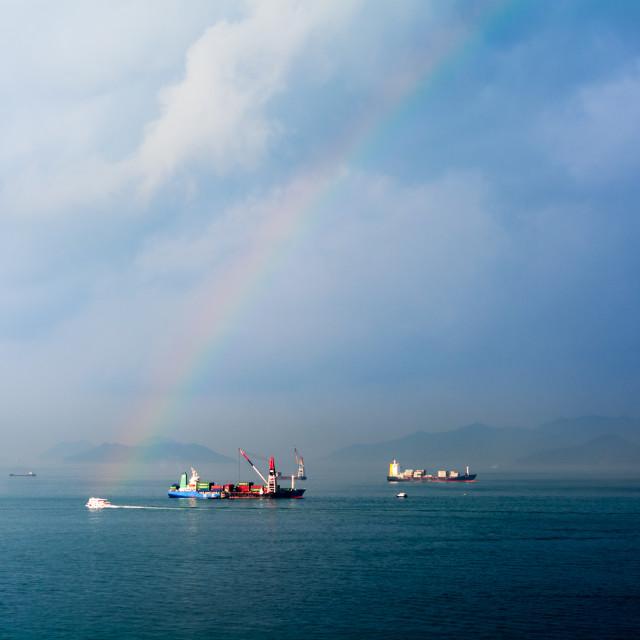"""""""Hong Kong Transhipping"""" stock image"""