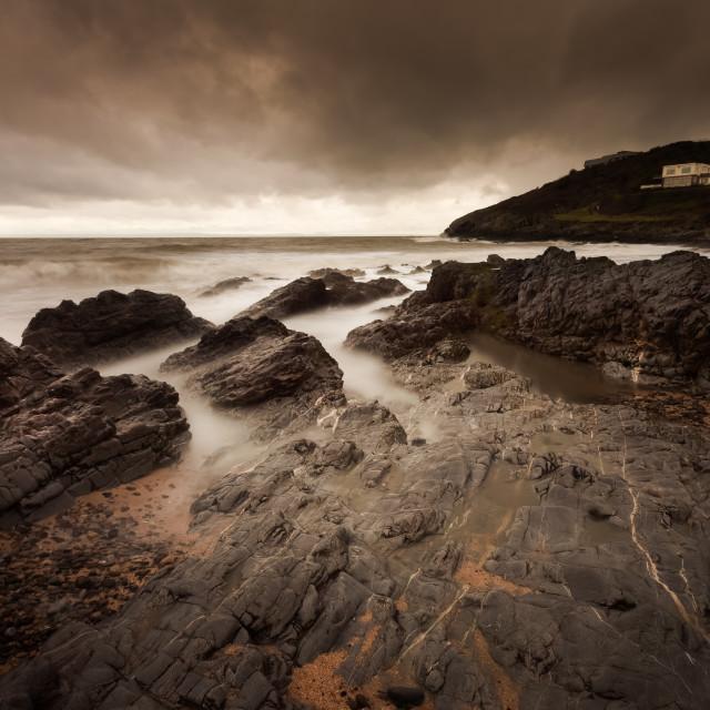 """""""Stormy Bracelet Bay"""" stock image"""