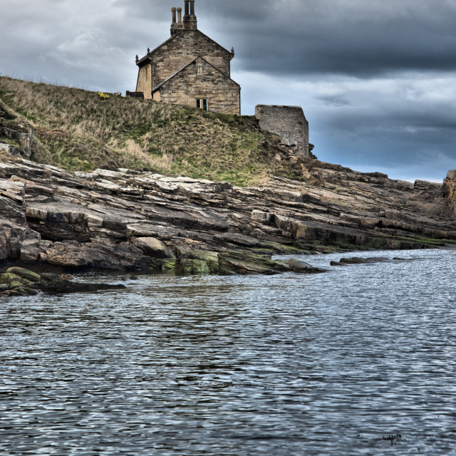 """The Bathing House at Howick."" stock image"