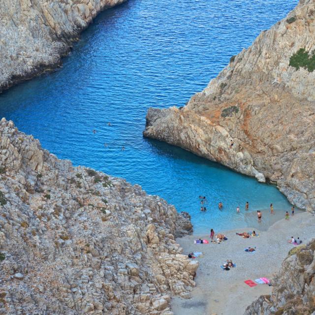 """""""Fiordo greco a Creta"""" stock image"""