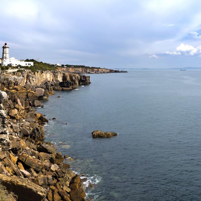 """Cascais Guia Lighthouse"" stock image"