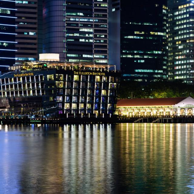 """Fullerton Bay Hotel Singapore"" stock image"