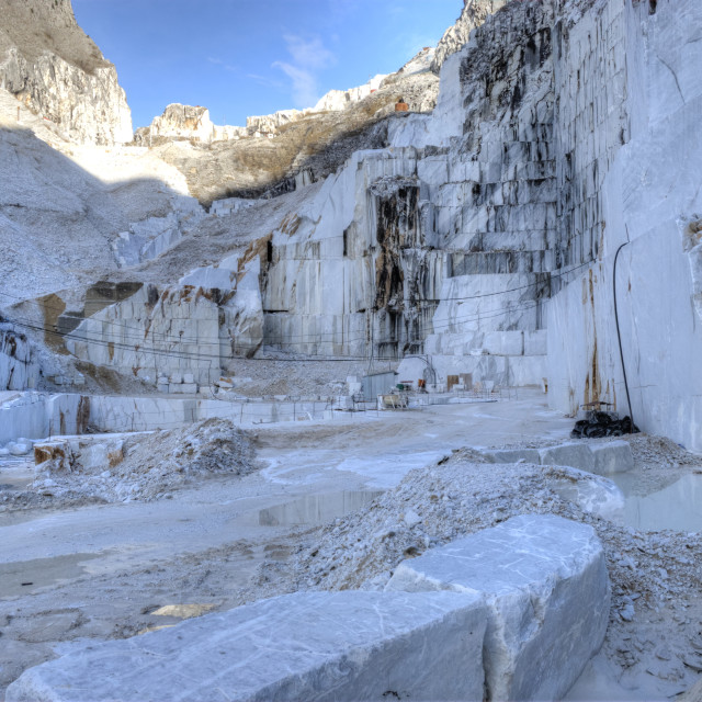 """marble quarries of Carrara"" stock image"