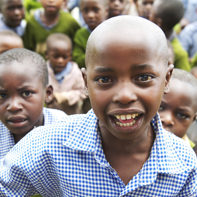 """Large group of Ugandan school children"" stock image"