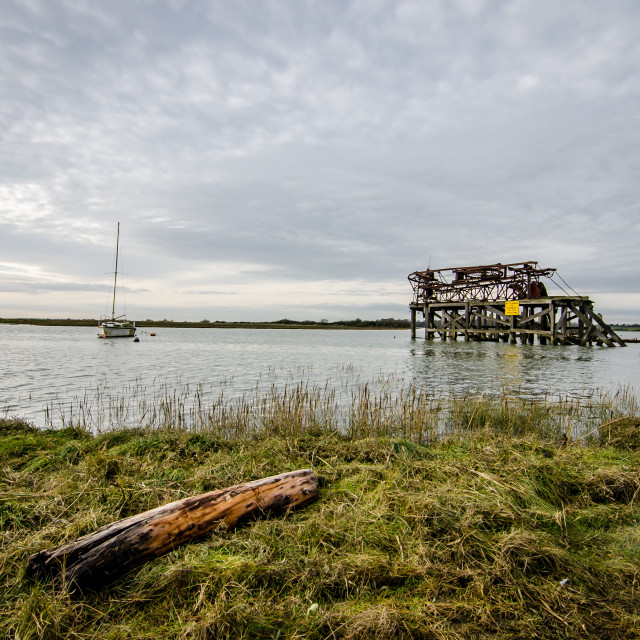 """High Tide at Alresford Crrek"" stock image"
