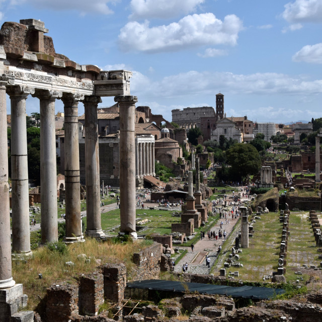 """The Roman Forum in Rome Italy"" stock image"
