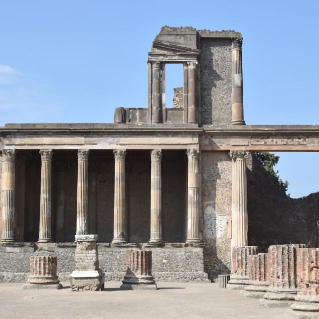"""Roman ruin in Pompeii, Italy"" stock image"