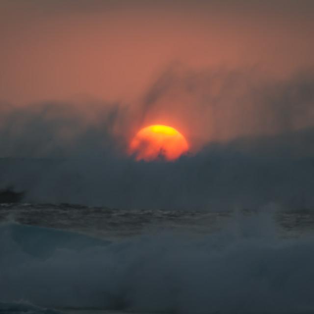 """""""The sinking Sun"""" stock image"""