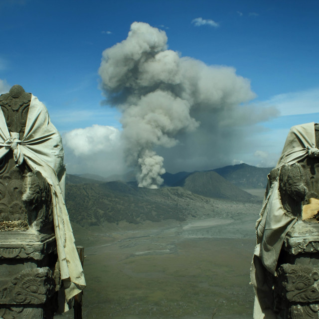 """""""the offerings for Bromo"""" stock image"""