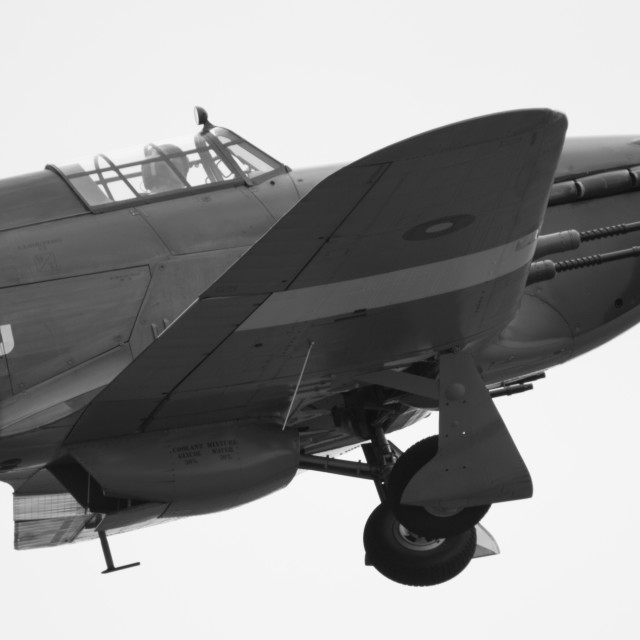 """""""Hawker Hurricane Departing Cosford"""" stock image"""