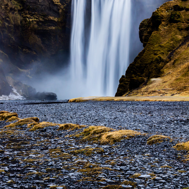 """Icelandic waterfall"" stock image"