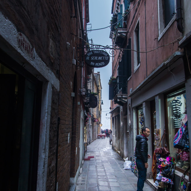 """Venice street - morning"" stock image"
