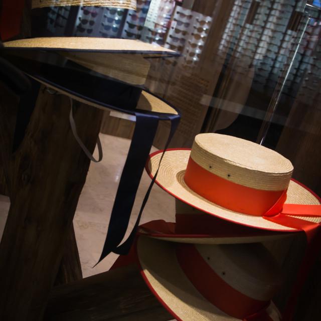 """""""Gondolier hats"""" stock image"""