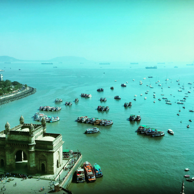 """The Gateway of India, Mumbai"" stock image"