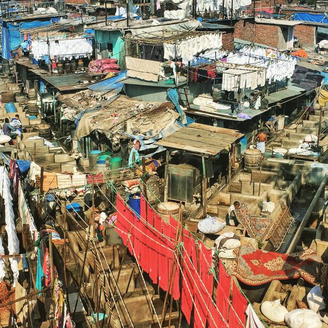 """Dhobi Ghats, Mumbai"" stock image"