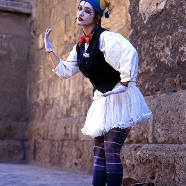 """Living statue in Cordoba, Spain"" stock image"