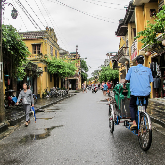"""""""Street View in Hoi An"""" stock image"""