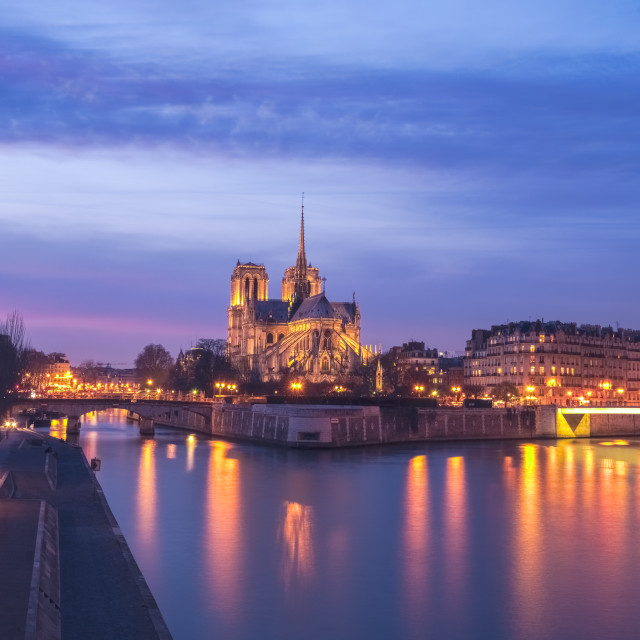 """Notre Dame Cathedral in Paris"" stock image"