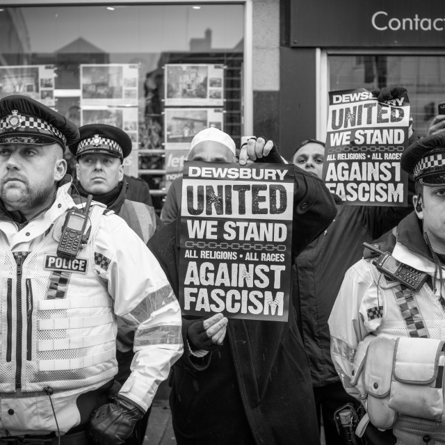 """Unite Against Fascism Protest,UK."" stock image"
